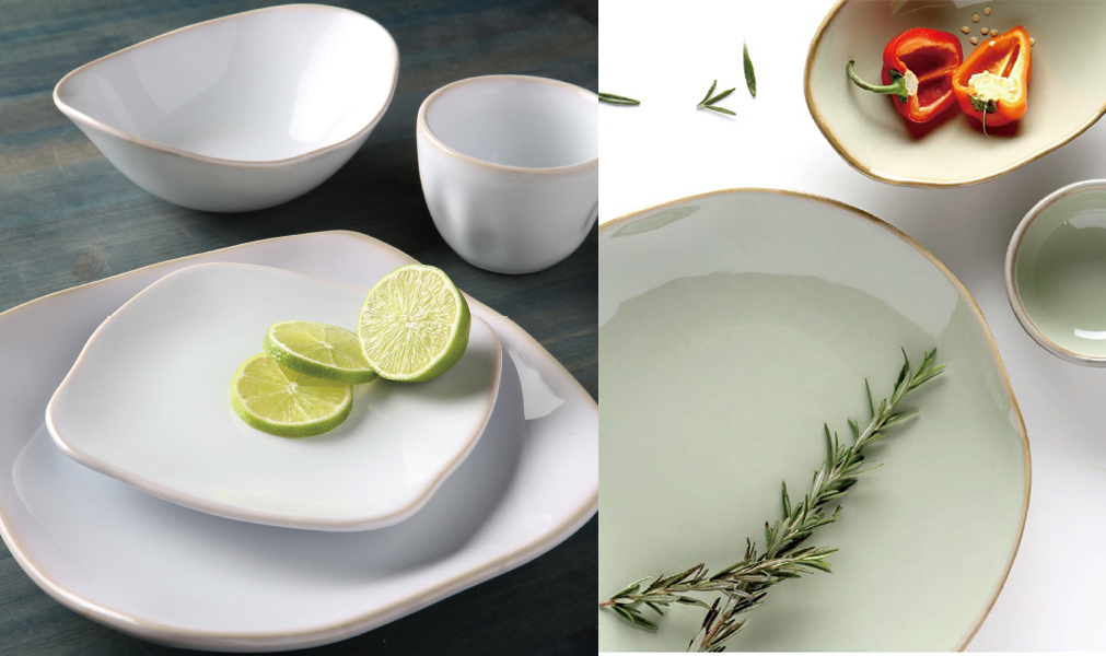 AGAVE (left) and SAGEBRUSH (right) give Tuxtonu0027s ARTISAN dinnerware collection lighter color options. & TabletopJournal - The Worldu0027s Source for Whatu0027s Hot in The World of ...